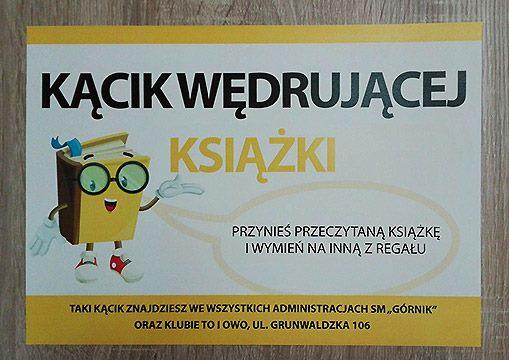 """Kącik Wędrującej Książki w Administracjach SM """"Górnik"""""""